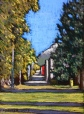 "Jasper Alley in the Fall Lorraine Young 4 ½"" x 6 ½"" soft pastels on pastel card $150 framed"