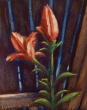 """Blooming on the Back Fence 1"" by Lorraine Young, Pastels on Wallis, 4"" x 5 ½"" $40 unframed"