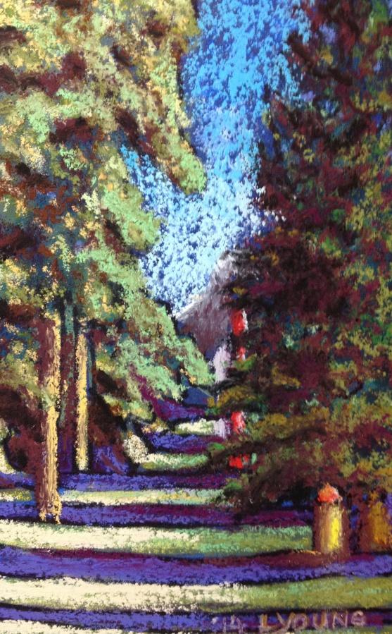 "Jasper Alley soft pastels 6"" x 4"" $60 unframed"