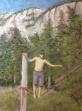 "'Slacklining' Lorraine Young pastels on Vellum paper 9 ½"" x 13"""