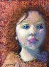 """""""Dreamer"""" , dry pastels on sanded pastel paper 5"""" x7"""" $120 framed"""