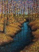 """Creek in Autumn"", 6"" x 8"" Lorraine Young, soft pastels on sanded pastel paper, $100 unframed"