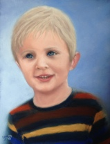 "Teo, soft pastels on Wallis paper, 8 1/2"" x 11"" , Lorraine Young (commissioned)"