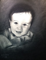 """Noah"" charcoal on stonehenge paper 9"" x 12"" Lorraine Young (commissioned)"