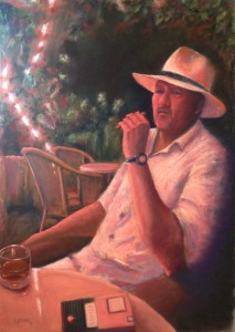 """""""Cohiba Sunset"""" __Lorraine Young. Soft pastels on Mi-teintes Touch, 20"""" x 29"""" $600 unframed."""