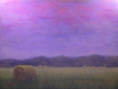 "Evening Sky_soft pastels on Pastel Premier Italian Clay paper_8 1/2"" x 11 1/2"" $140 unframed"