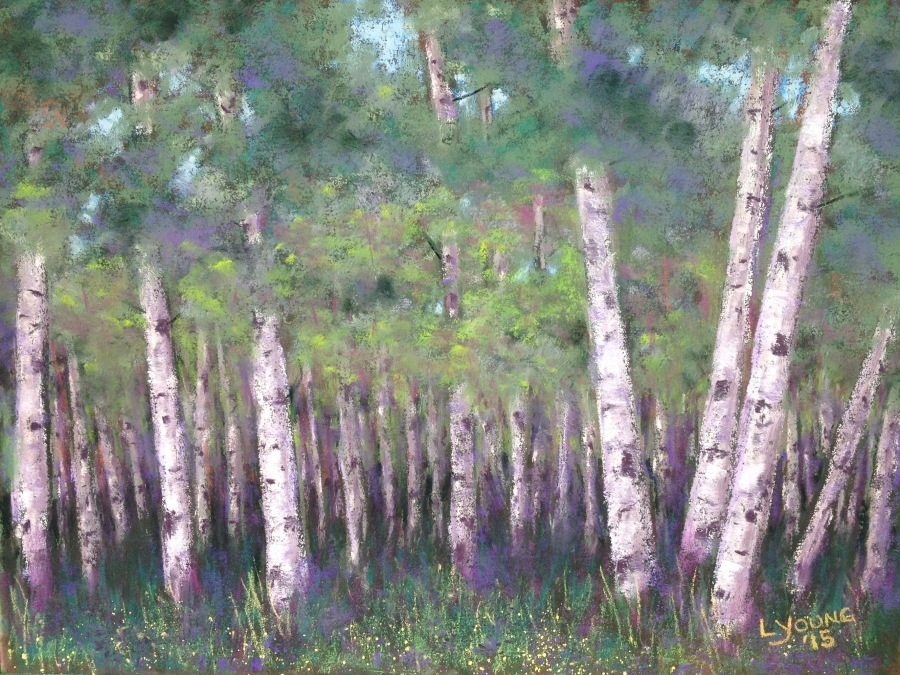"Woodland Spice_ soft pastels on Pastel Premier Italian Clay paper_ 8 1/2"" x 11 1/2""_ Lorraine Young_$140 unframed"