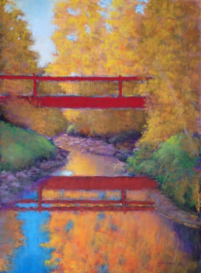 """SOLD Bridge of Dreams_11"""" x 15""""_Lorraine Young_soft pastels on Premier Pastel sanded pastel paper"""