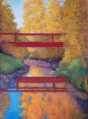 "SOLD Bridge of Dreams_11"" x 15""_Lorraine Young_soft pastels on Premier Pastel sanded pastel paper"
