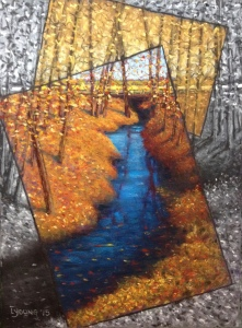 """Mill Creek at Jackie Parker Park""_Lorraine Young_ soft pastels on Pastel Premier sanded pastel paper 9"" x 12"" $150 unframed"