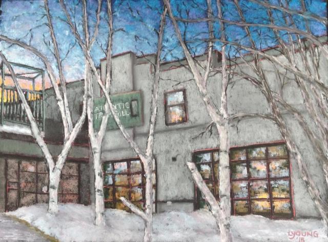 """Atlantic Trap & Gill Edmonton"" soft pastels on Pastel Premier paper_11""x15 ½""_Lorraine Young $210 unframed"