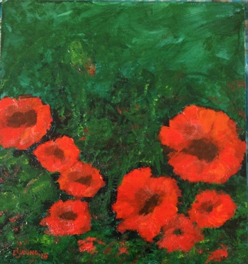 """Hope"" (c) Lorraine Young acrylics on tile"