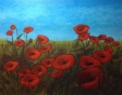 """Poppies"" (c) Lorraine Young  acrylics on canvas"