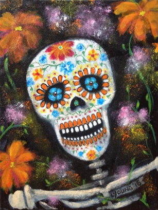 """Day of the Dead"" (c) Lorraine Young acrylics on canvas"