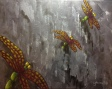 """Dragonflies"" (c) Lorraine Young acrylics on canvas"